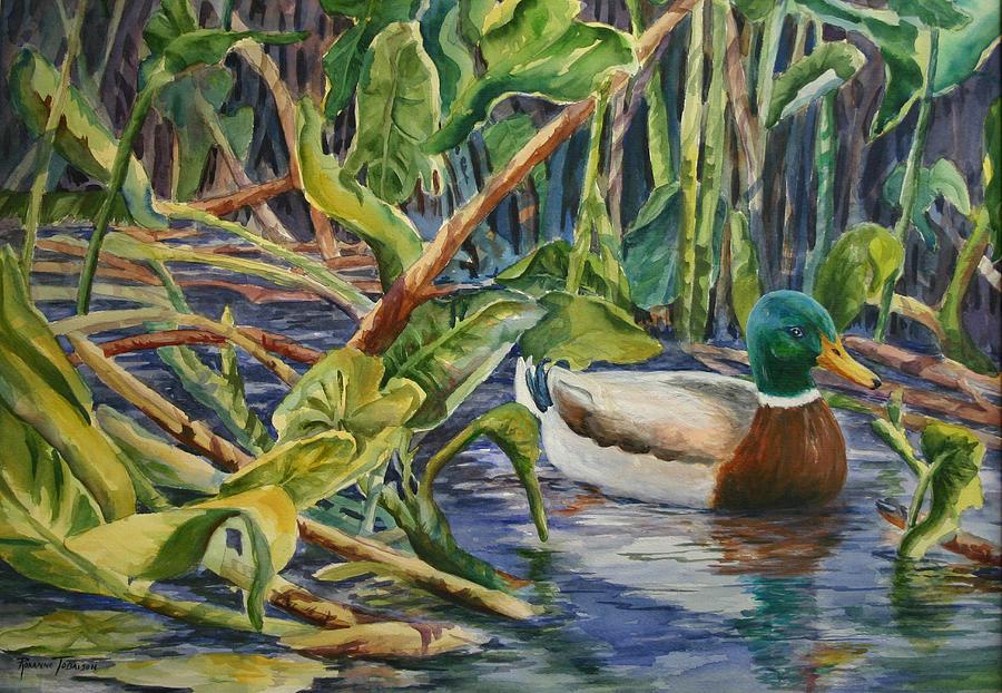 Environmentally Sound - Mallard Duck Painting by Roxanne Tobaison