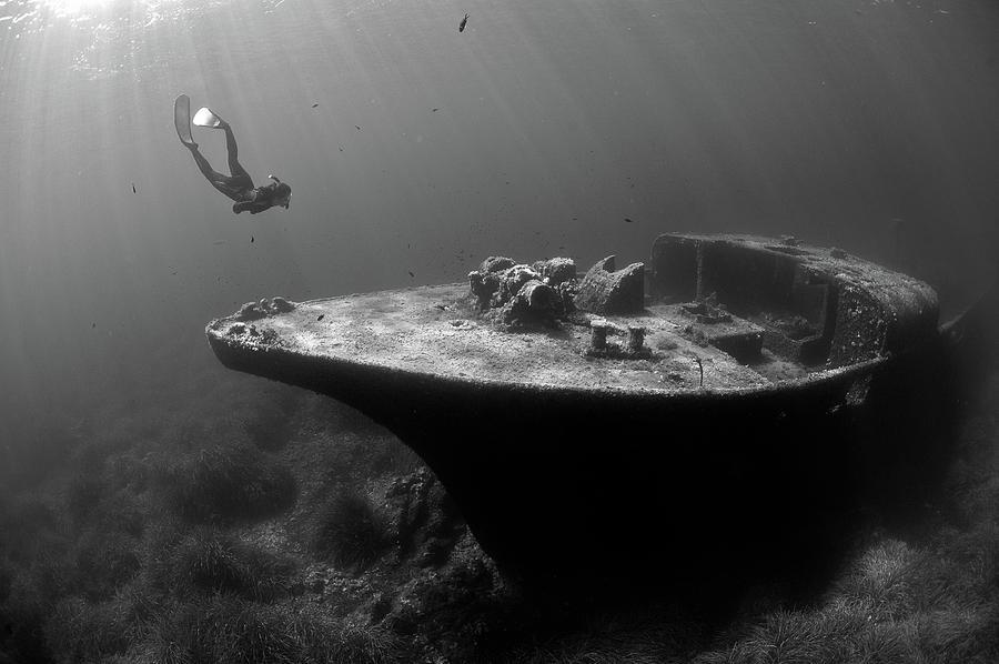 Wreck Photograph - Epave De La Picorella - Picorella's Wreck by Eric Volto