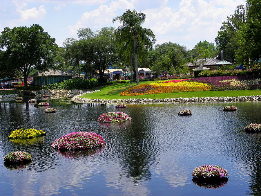 Theme Park Photograph - Epcot Center Flower Festival 1 by Judy Wanamaker