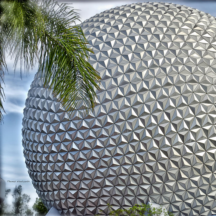 Epcot Photograph - Epcot Globe by Thomas Woolworth