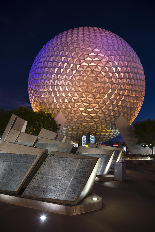 3scape Photograph - Epcot Spaceship Earth by Adam Romanowicz