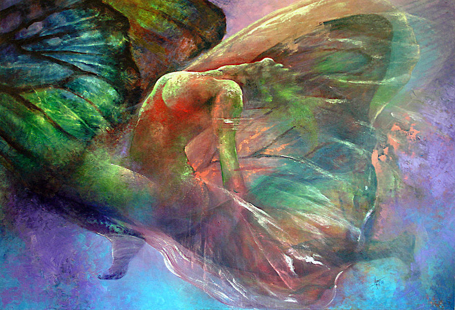 Butterfly Painting - Ephemeral Life by Karina Llergo