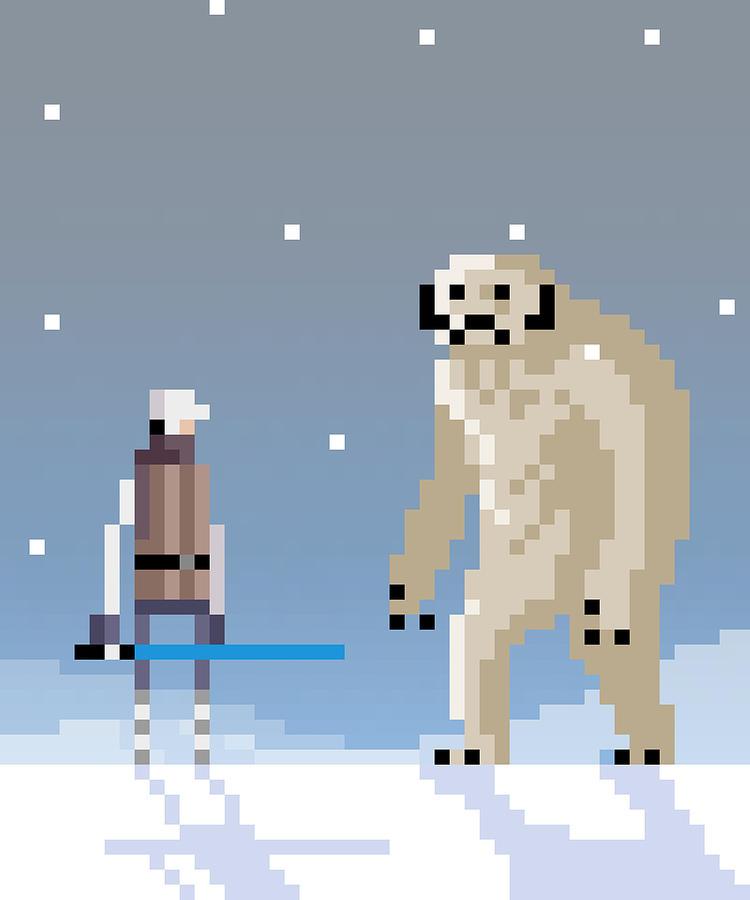 Luke Digital Art - Epic Battle In The Snow by Michael Myers