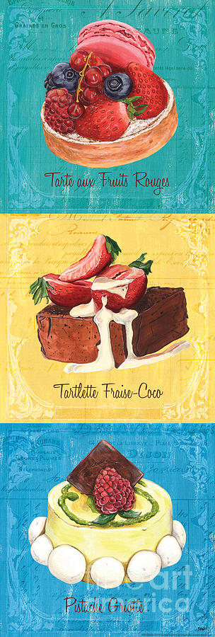 Pastry Painting - Epicerie Panel 1 by Debbie DeWitt