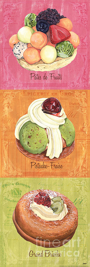 Pastry Painting - Epicerie Panel 2 by Debbie DeWitt