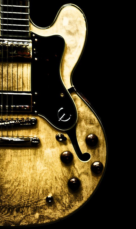 Epiphone Broadway Electric Guitar Photograph By Bill Cannon