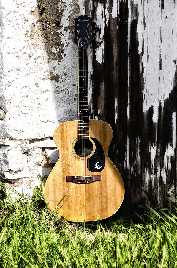 Acoustic Photograph - Epiphone Caballero by Bill Cannon