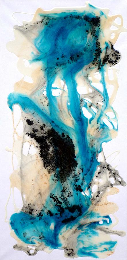 Epoxy Painting Canvas : Epoxy resin art on canvas painting by tara baden