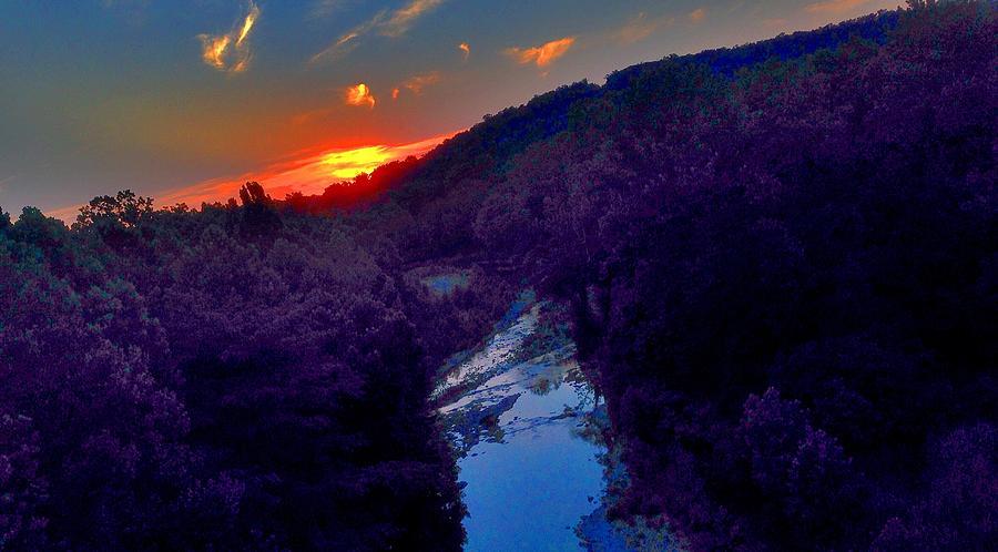 Epps Bridge Sunset by Terry Zeyen