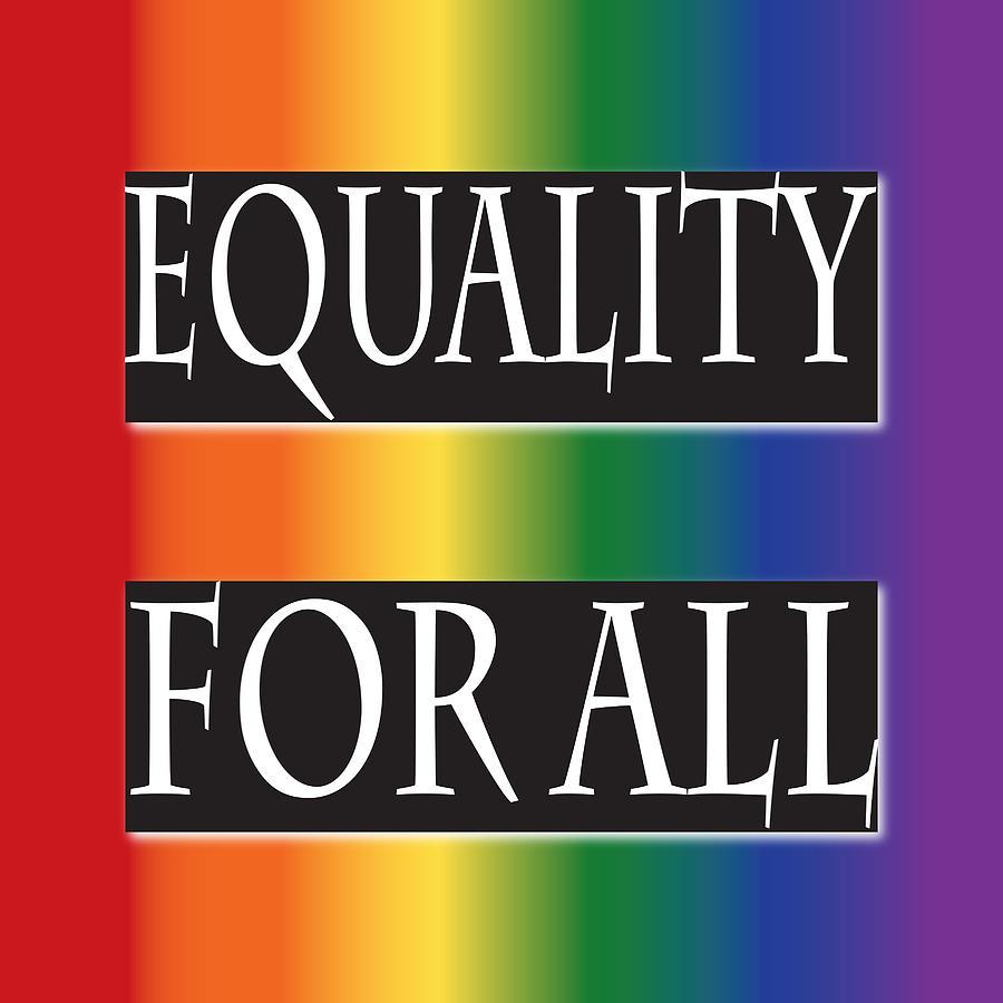 Jamie Lynn Digital Art - Equality Rainbow by Jamie Lynn