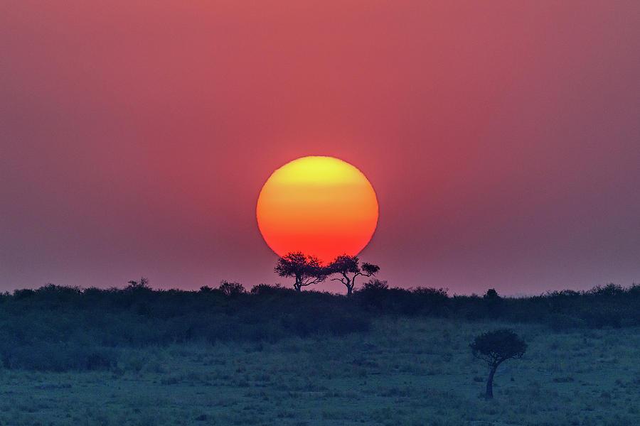 Sun Photograph - Equatorial Sunset by Jeffrey C. Sink
