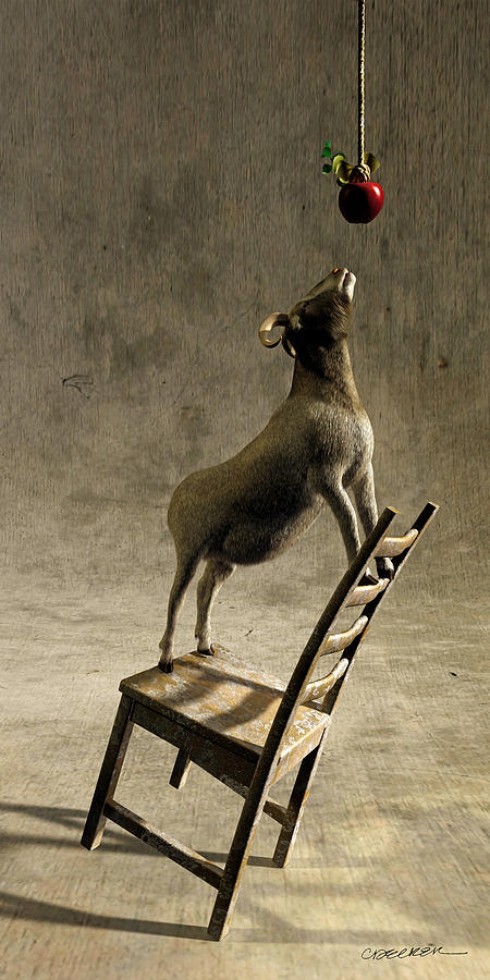 Goat Digital Art - Equilibrium by Cynthia Decker