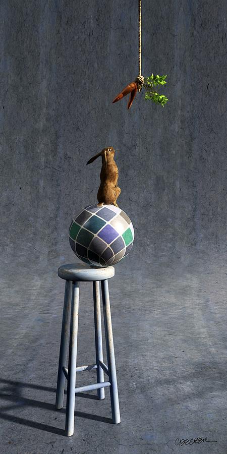 Rabbit Digital Art - Equilibrium II by Cynthia Decker