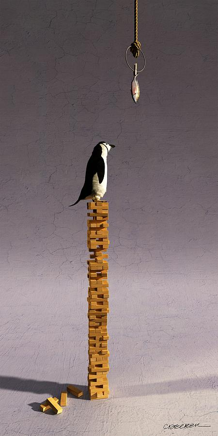 Penguin Digital Art - Equilibrium V by Cynthia Decker