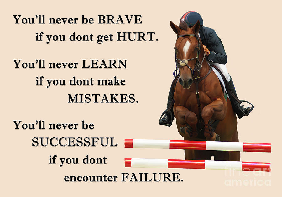 Equine Quote Digital Art by Manal Ali