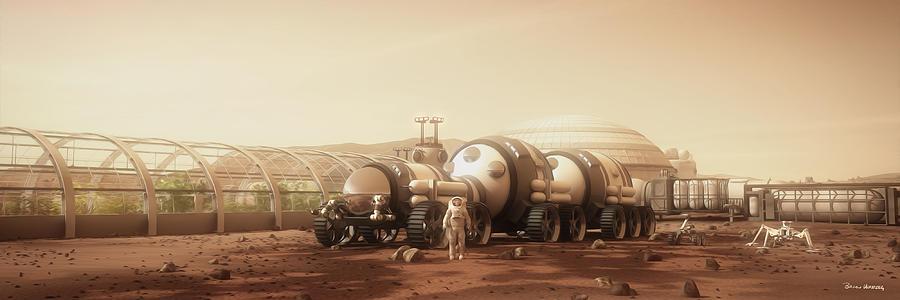 Mars Habitat Digital Art - Equipment Portrait by Bryan Versteeg