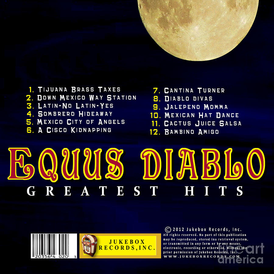equus diablo cd back cover photograph by mike nellums