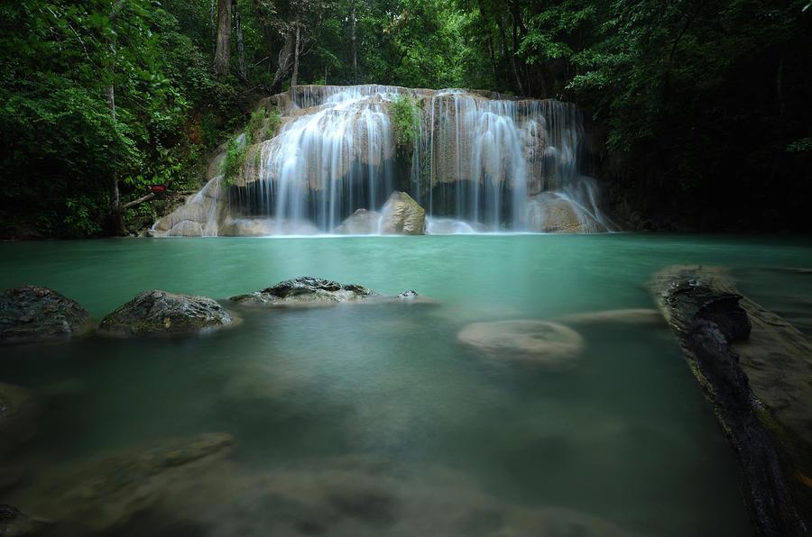 Erawan Waterfall By Photograph By Praphat Rattanayanon