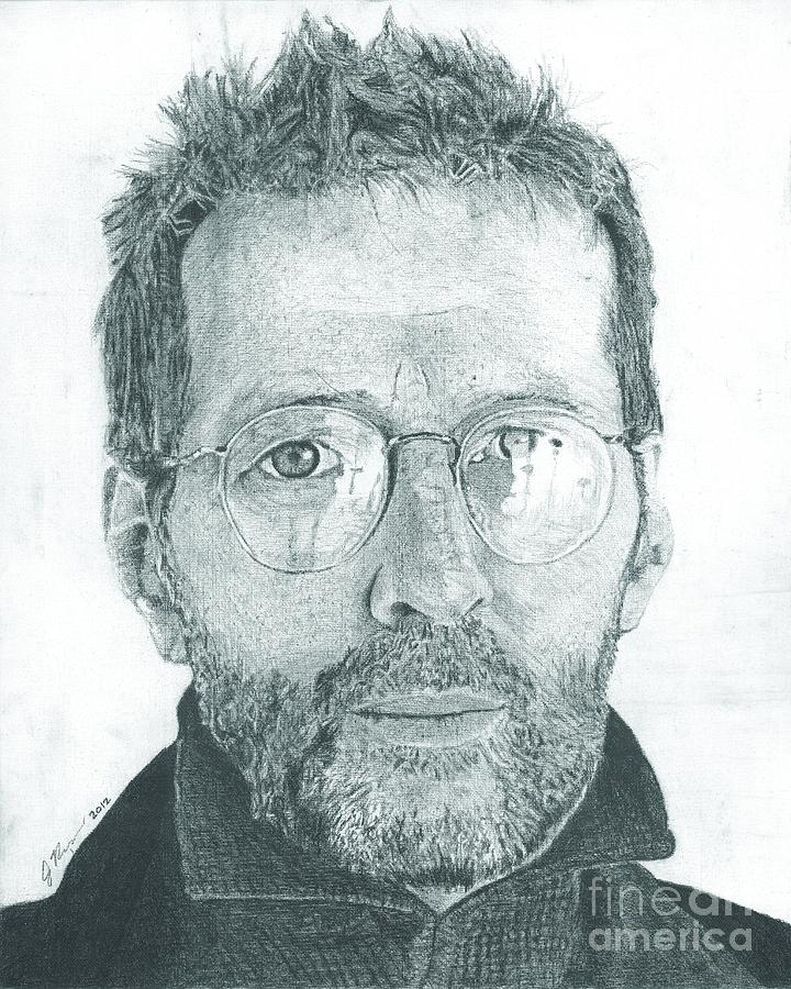 Eric Clapton Drawing by Jeff Ridlen