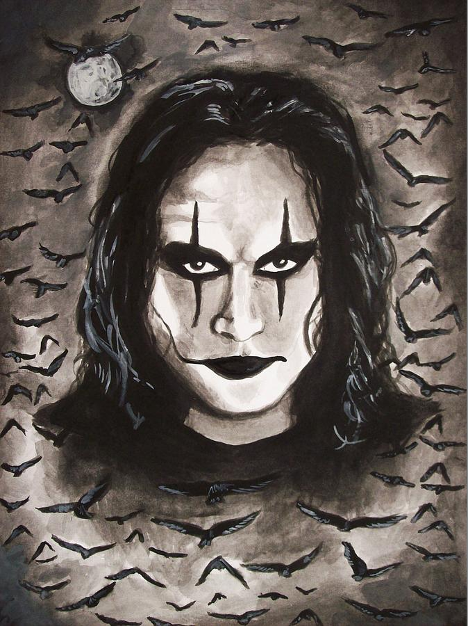 Eric draven the crow painting by amber stanford for Eric mural painter