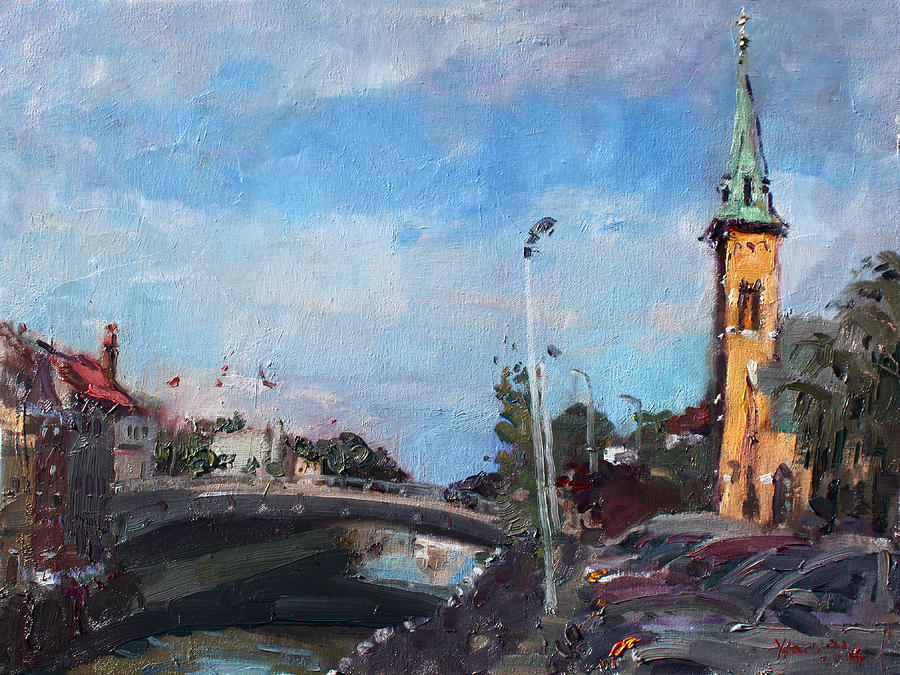 Erie Canal Painting - Erie Canal In Lockport by Ylli Haruni