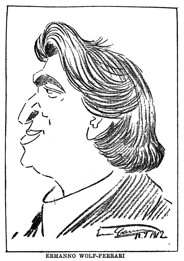 1912 Drawing - Ermanno Wolf-ferrari (1876-1948) by Granger