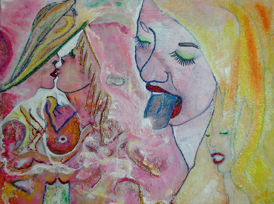 Aquarelle Painting - Eros Tic by Michael DESFORM