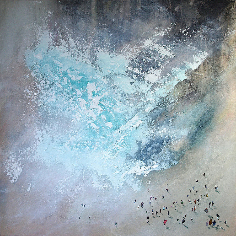 Crowd Painting - Erosion by Neil McBride