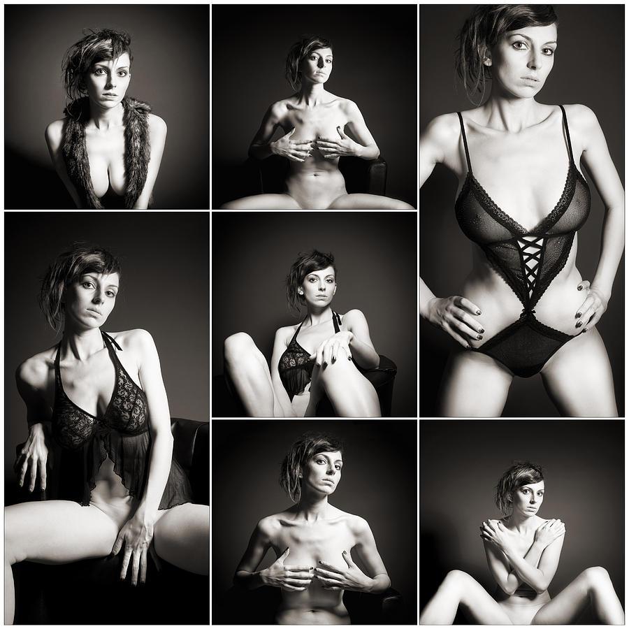 Woman Photograph - Erotic Beauty Collage 15 by Jochen Schoenfeld