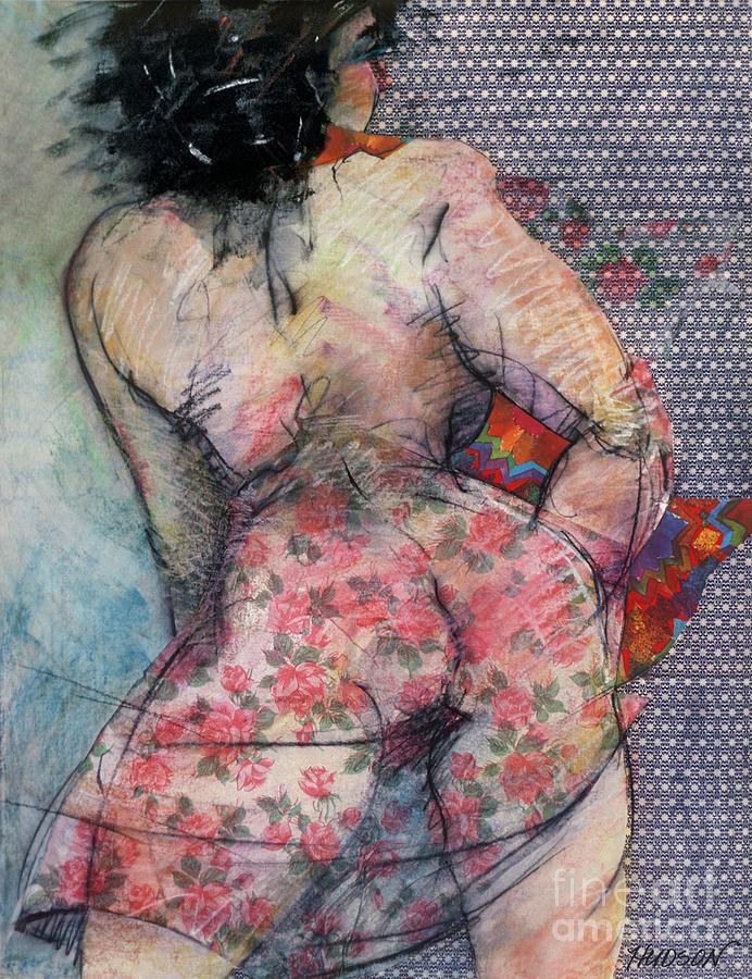 Erotic nude figure drawing