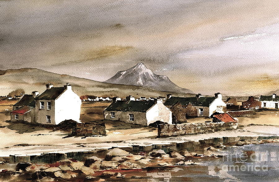 Val Byrne Painting - Errigal From Gola Island Donegal by Val Byrne