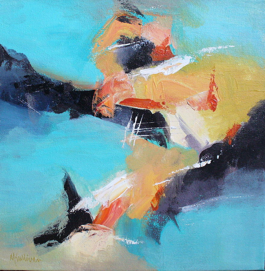 Contemporary Painting - Eruption 2 by Mary Sullivan