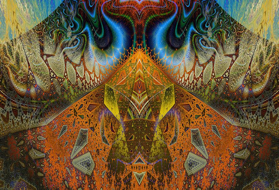 Fractal Digital Art - Eruption by Joseph Pugliese