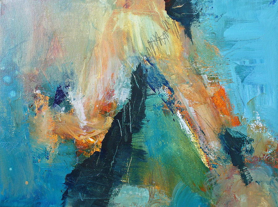 Abstract Painting - Eruption by Mary Sullivan