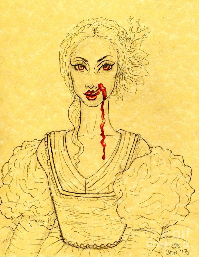 Elizabeth Bathory Drawing - Erzibeth Bathory by Coriander  Shea