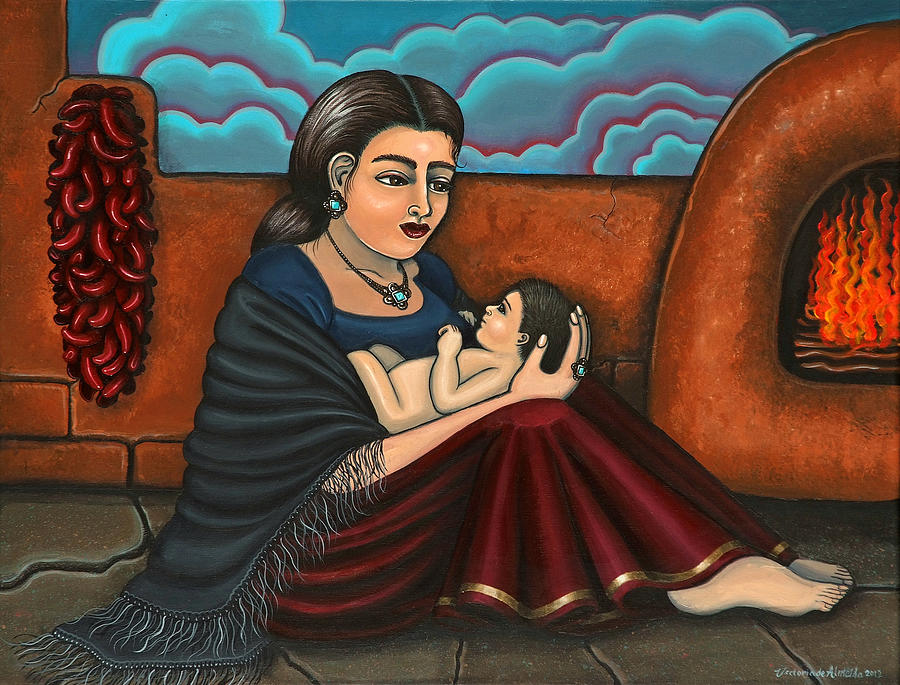 Mother Painting - Es Todo  Or You Are Everything by Victoria De Almeida
