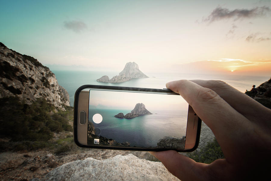 Es Vedra On Mobile Photograph by Andy Brandl