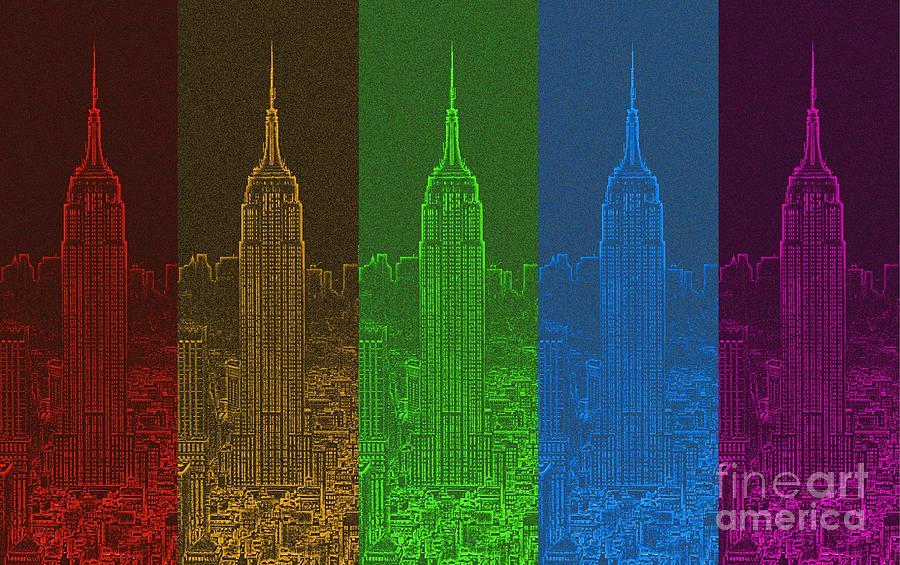 Color Spectrum Digital Art - Esb Spectrum by Meandering Photography