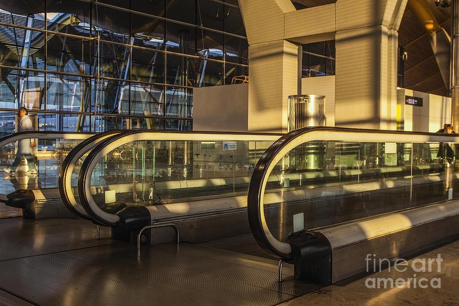 Walkway Photograph - Escalator by Patricia Hofmeester