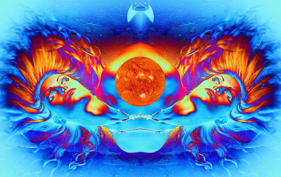 Landscape Digital Art - Escape From The Sun by Matthew Lacey