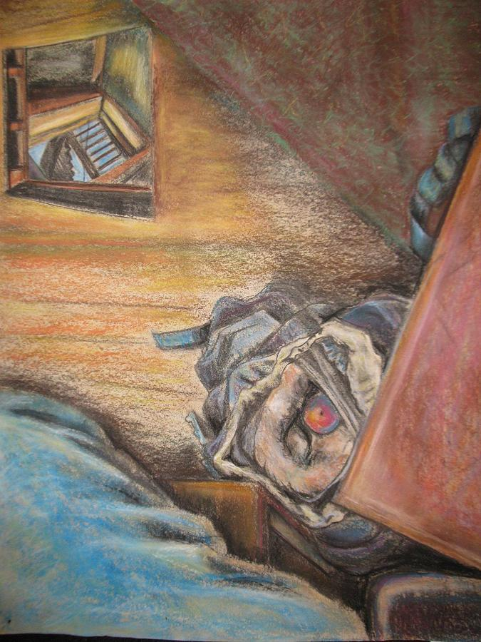 Fantasy Drawing - Escape Hatch by Ellen Howell