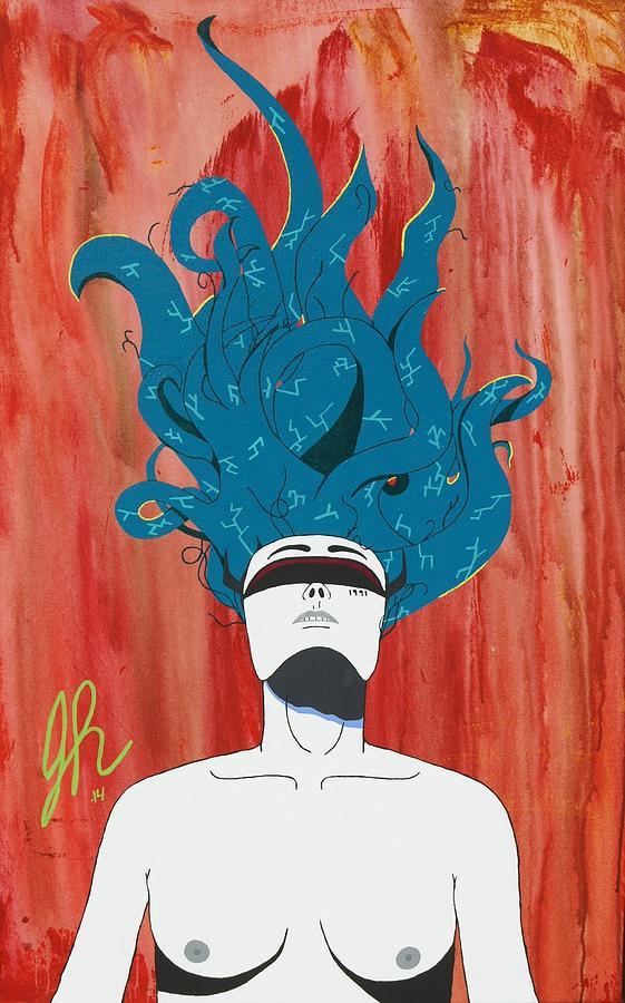 Blue Hair Painting - Escape by Jeremy Roark