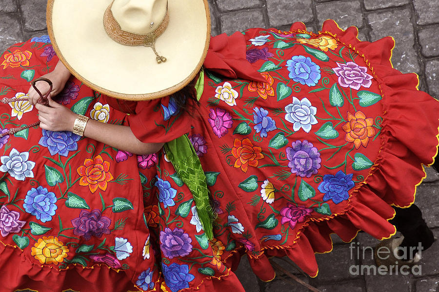 Mexico Photograph - Escaramuza Charra by Kristine Celorio
