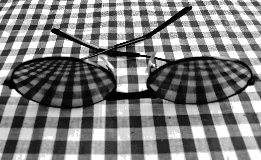 Glasses Photograph - Escher Drops His Glasses By Darryl Kravitz by Darryl  Kravitz