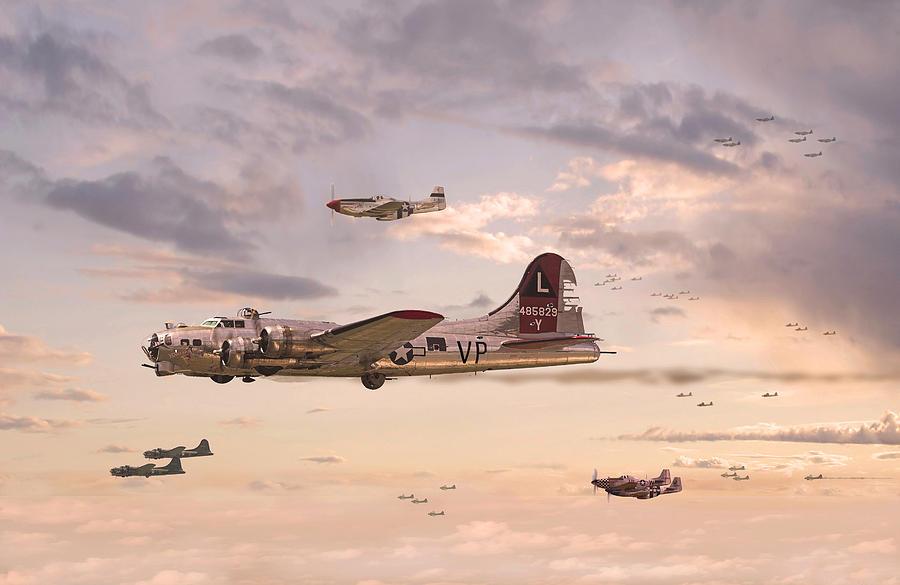 Aircraft Digital Art - Escort Service by Pat Speirs