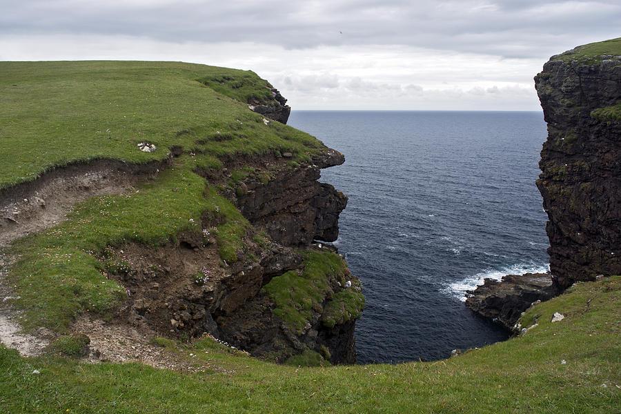 Sea Photograph - Eshaness Cliffs by Steve Watson