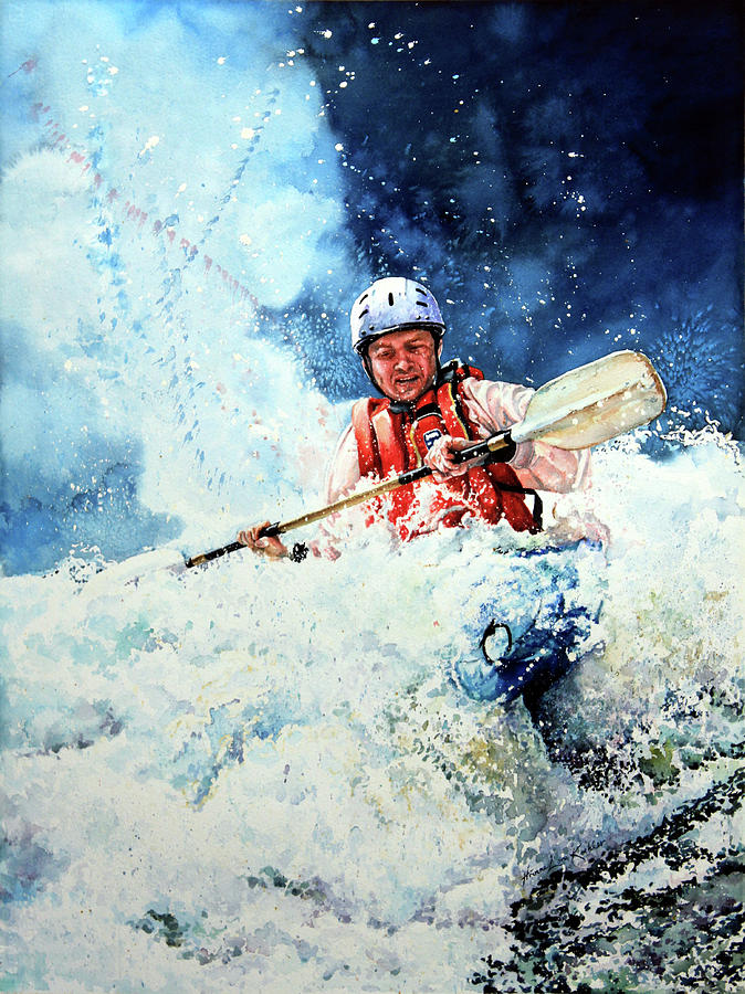 Kayak Painting - Eskimo Rolls by Hanne Lore Koehler