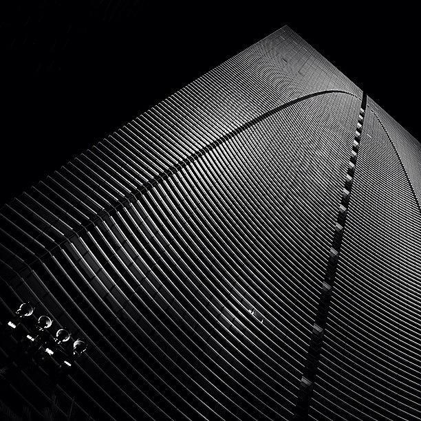 Blackwhite Photograph - Espirito Santo Plaza Bldg. - Miami ( by Joel Lopez