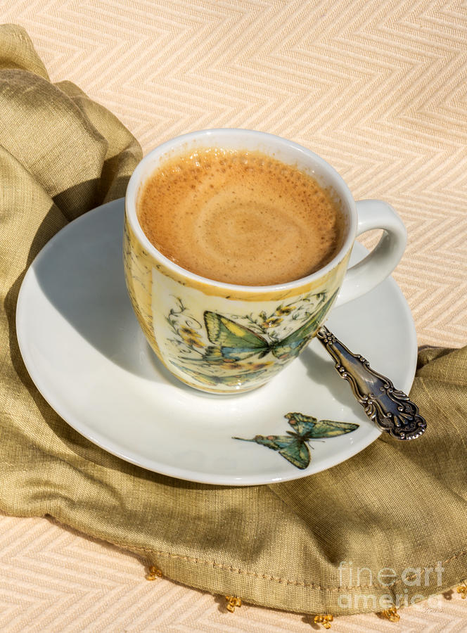 Espresso Photograph - Espresso In Butterfly Cup by Iris Richardson