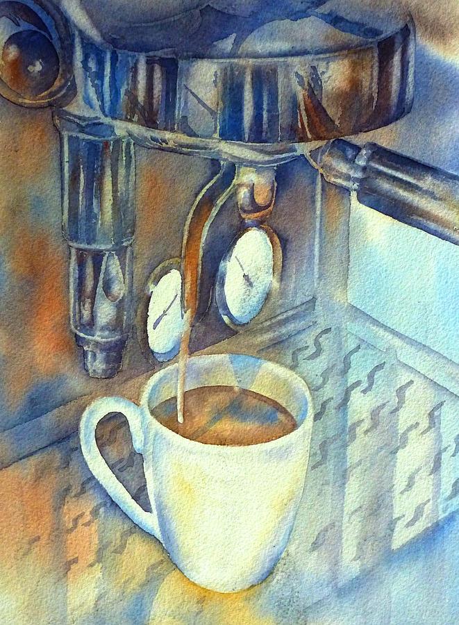 Espresso Painting - Espresso Machine 3 by Thomas Habermann